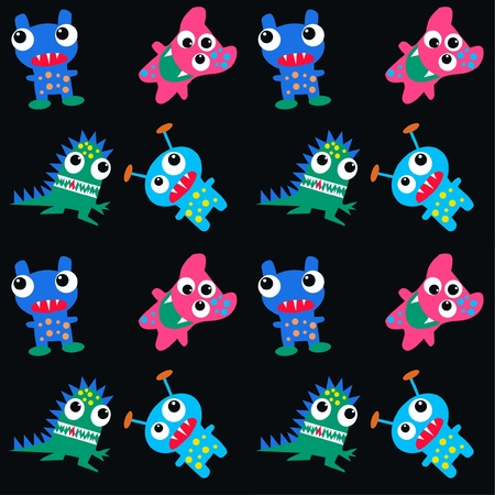 pattern monster: seamless pattern