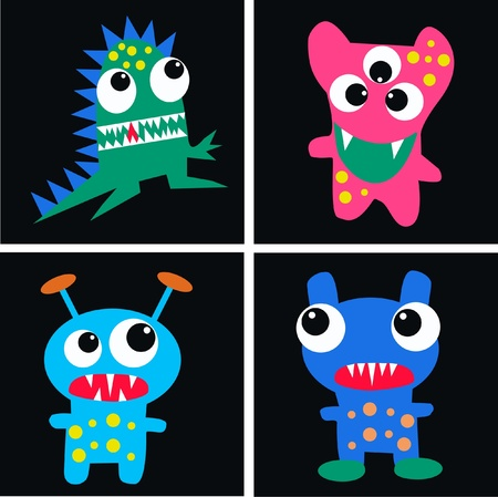cute cartoons: monsters