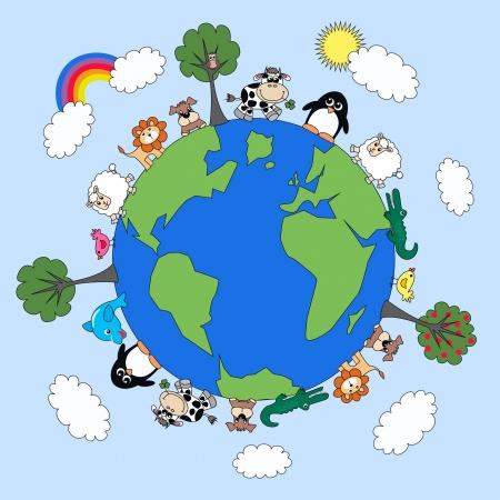 planeta tierra feliz: planeta Animal