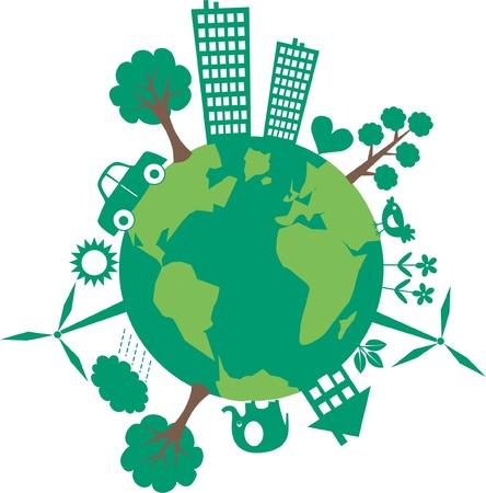 planeta tierra feliz: planeta verde
