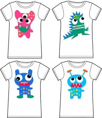 pattern monster: divertente t-shirt