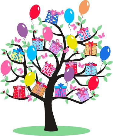 celebration tree Stock Vector - 10485131