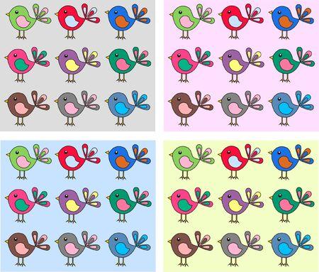 v�gelchen: Vogel-Muster Illustration