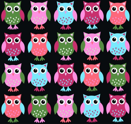 owl background Stock Vector - 10598565