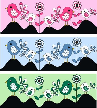 birdies: birds Illustration