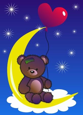 teddy: Feier oder Einladung Illustration