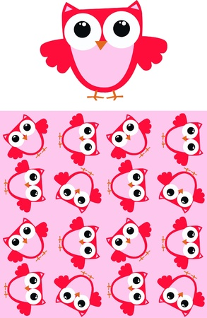seamless owl pattern Stock Vector - 10699960