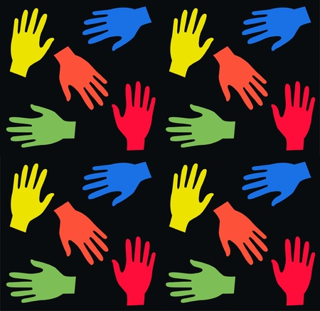 caring hands: seamless pattern