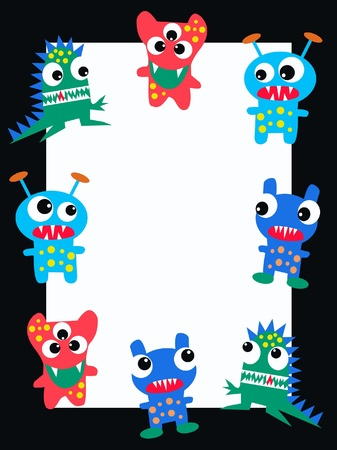 pattern monster: celebration or invitation Illustration