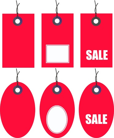 stock illustration: sale tags