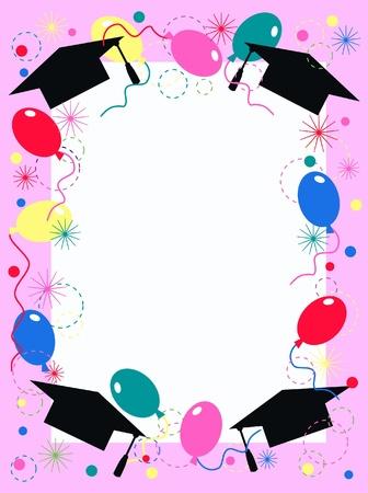 graduation invitation or celebration card Vector