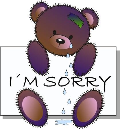 tears: sorry Illustration