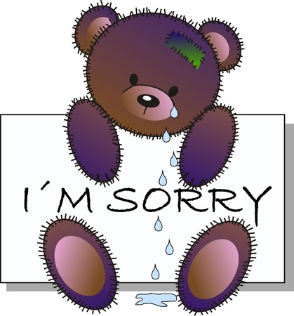 tear drop: sorry Illustration