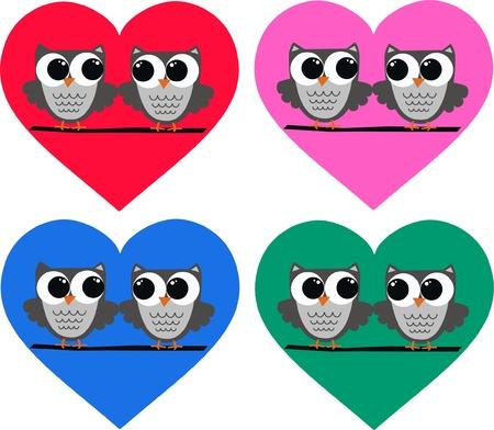 microstock: owl couples