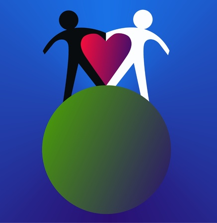 world peace: love peace freedom