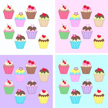 cupcake backgrounds Stock Vector - 10891894