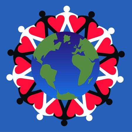 Niños ayudando: multi cultural