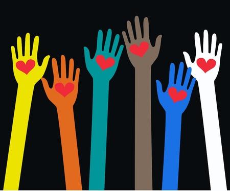 ni�os ayudando: manos de ayuda