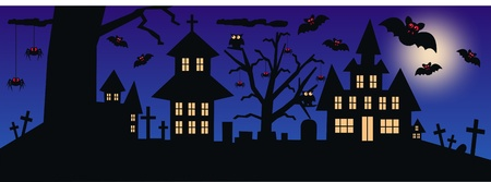 red cross red bird: halloween Illustration