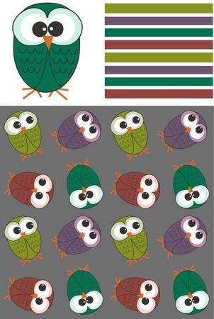 microstock: three patterns Illustration