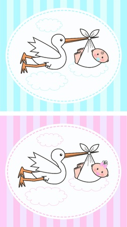 newborn baby Stock Vector - 11056537