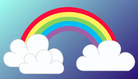 sky line: rainbow Illustration