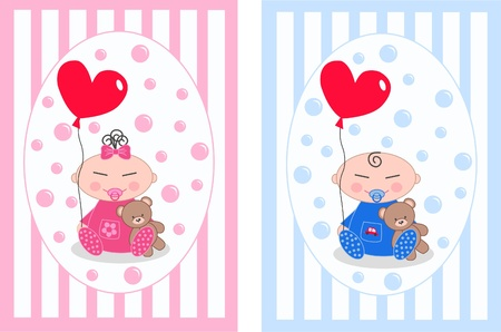 asian newborn baby Vector