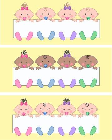 multi cultural babies Stock Vector - 11193787