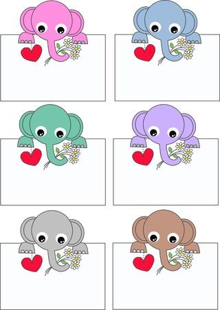 caricaturas de animales: elefantes
