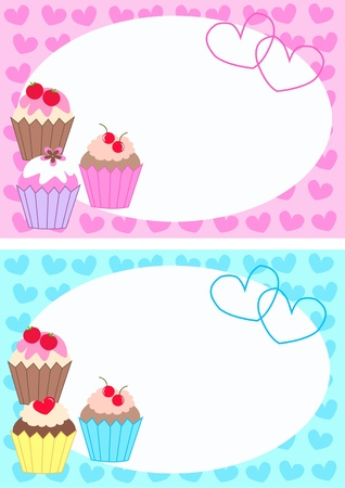 free border: cupcakes Illustration