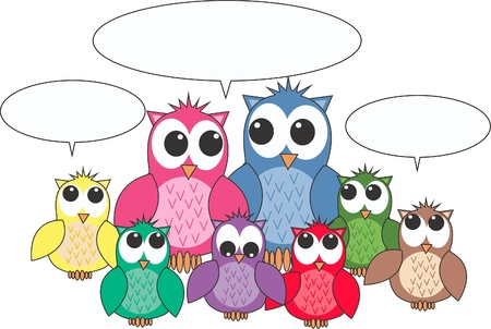 free stock images: owls Illustration
