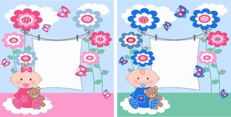 gemelos ni�o y ni�a: aviso del beb�