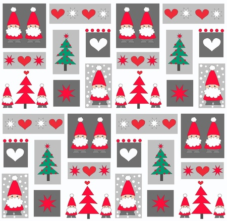 snowing: seamless christmas pattern