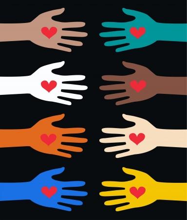 royalty free: mani che aiutano Vettoriali