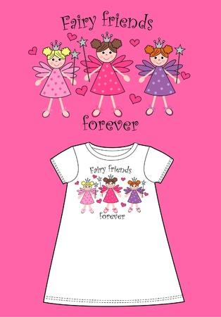 modelo de ropa para niños Ilustración de vector