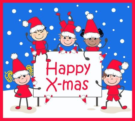 familia asiatica: Navidad Vectores