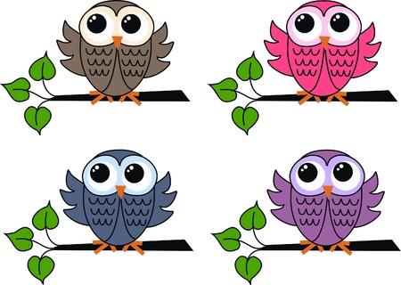owls Stock Vector - 11357114