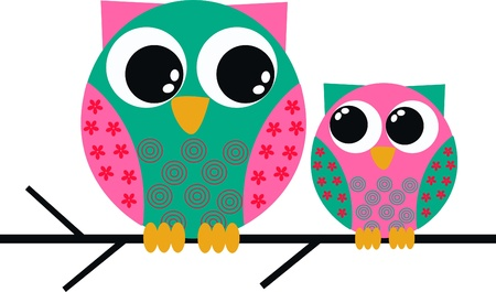cute images: owls Illustration