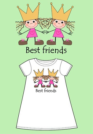 best friends: pattern for childrens wear
