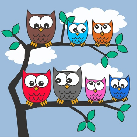 jpeg: owls Illustration