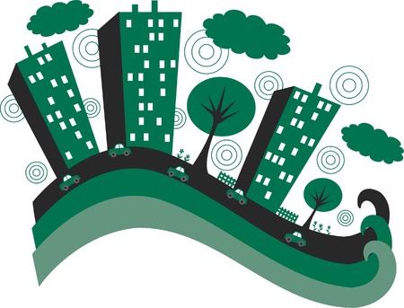 green city banner header Vector