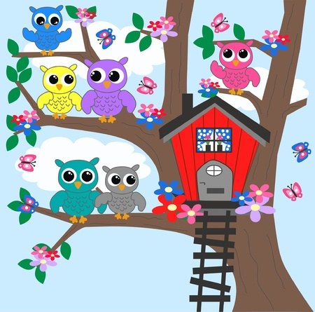 clr: owls Illustration