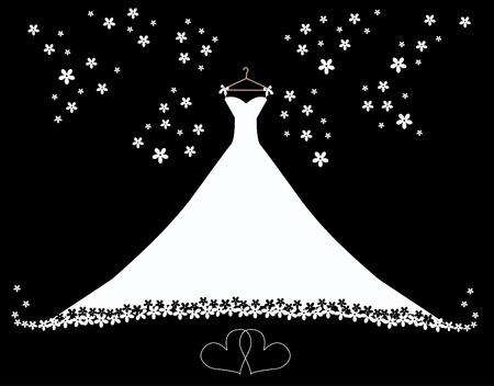 иллюстрировать: подвенечное платье Иллюстрация