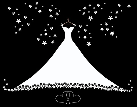 royalty free illustrations: wedding dress