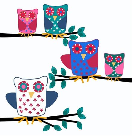 jpeg: owls Illustration
