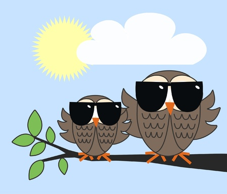 cool owls  Vector