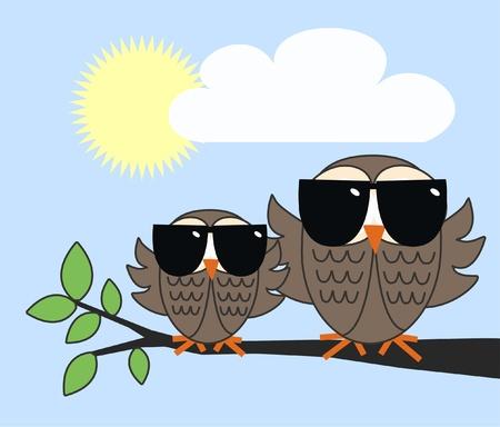 cool owls  Vector
