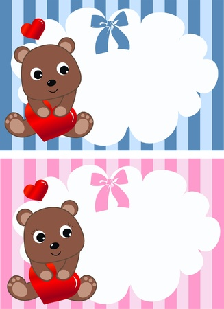 cartoons sweet: valentines day or birthday Illustration