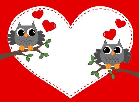 v�gelchen: Valentines Day oder Geburtstag Illustration