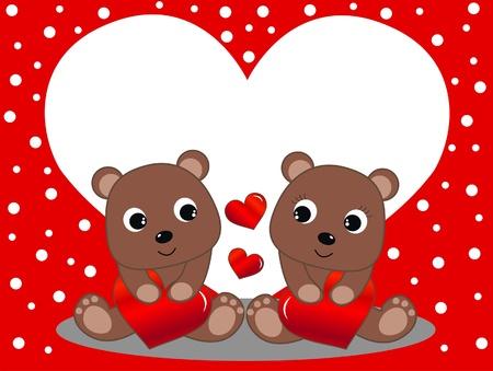dia dos namorados ou anivers Ilustração
